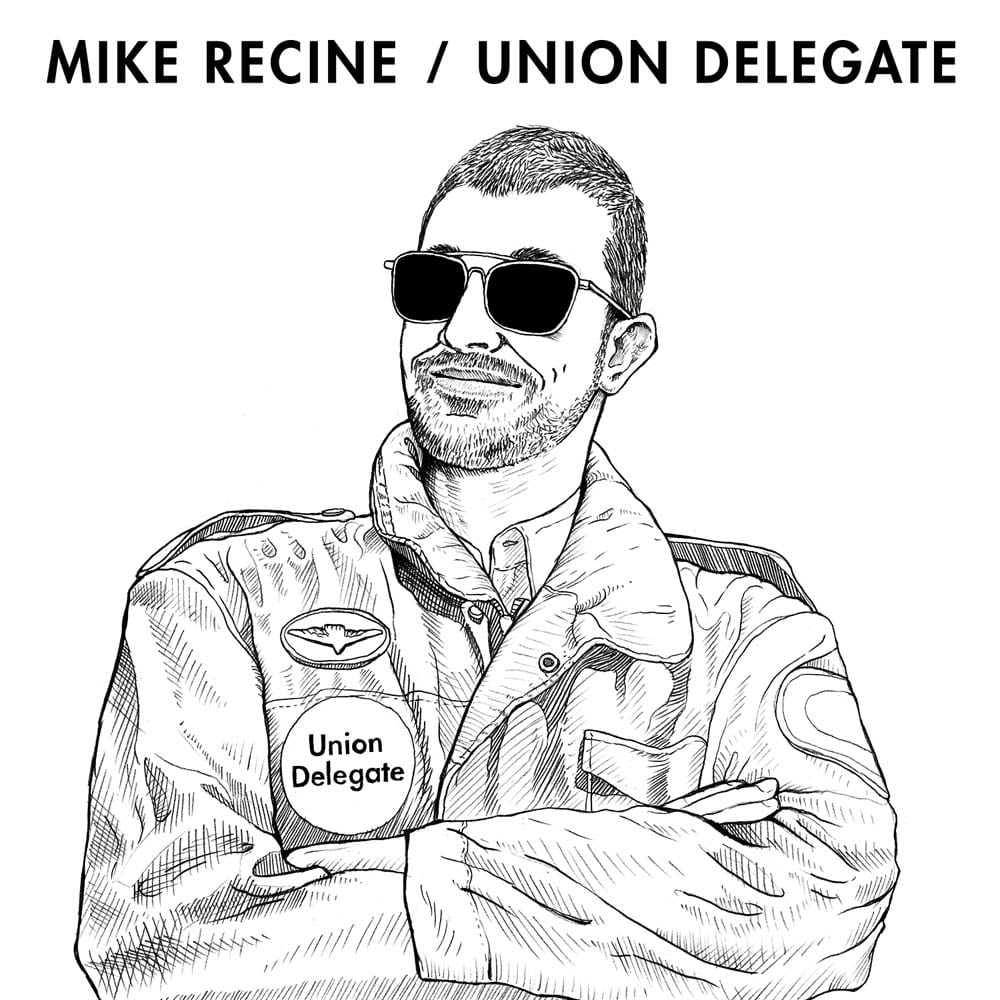 Mike Recine Union Delegate